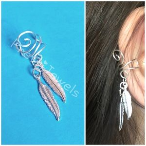 NEW Dangly Feathers No Piercing ear cuff
